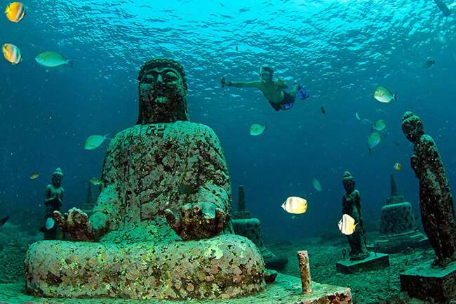 The Underwater Temple Garden of Bali