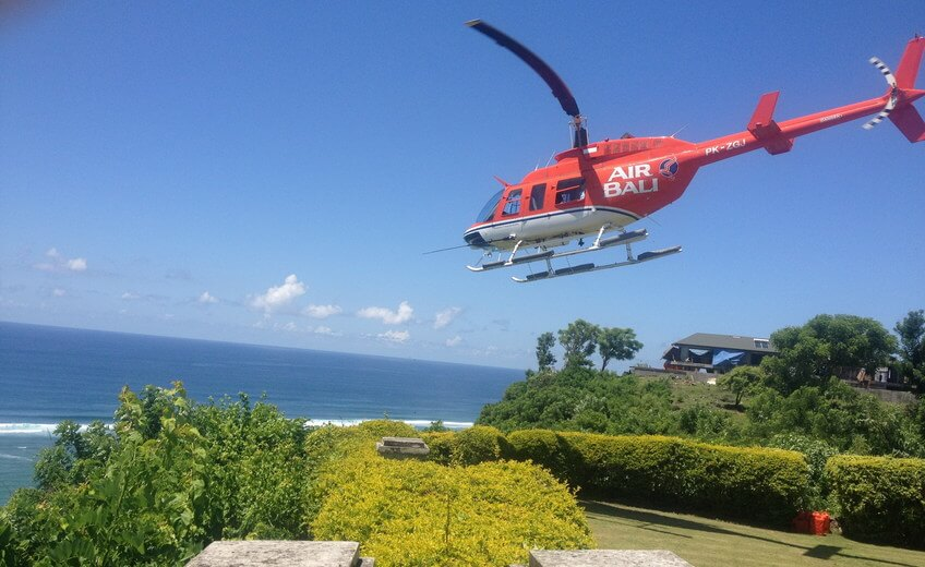 Joy Flight Helicopter Tour above Sanur, Ubud, Tanah Lot and Kuta