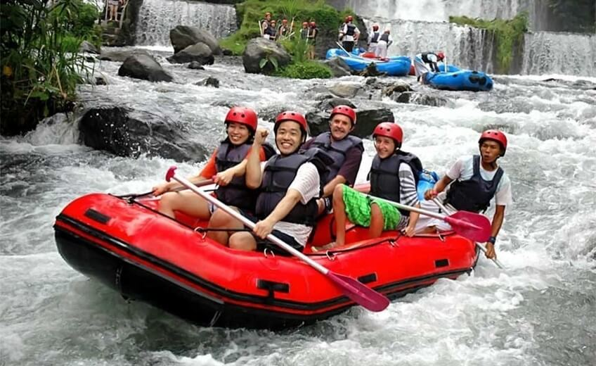 Rafting On The Telaga Waja River
