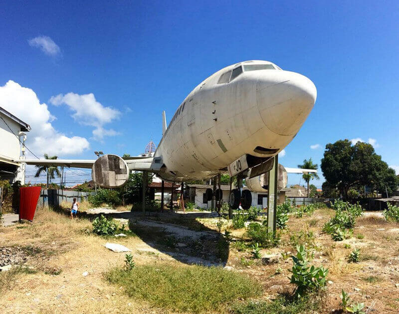 Abandoned Plane In The Middle Of Kuta Area