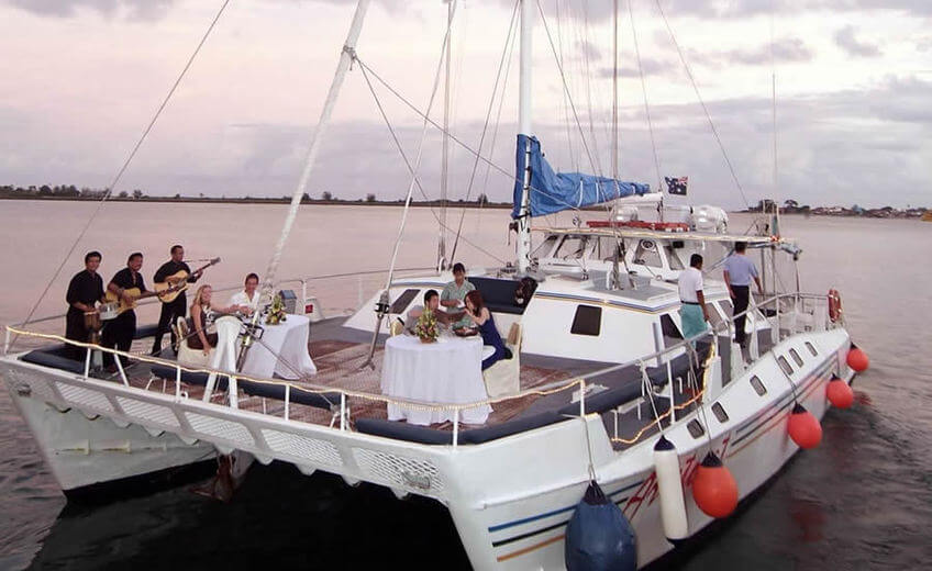 Evening Dinner Cruise aboard a Sailing Catamaran