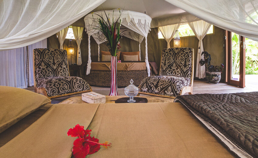 Glamping In A Luxury Tents With A Private Pool