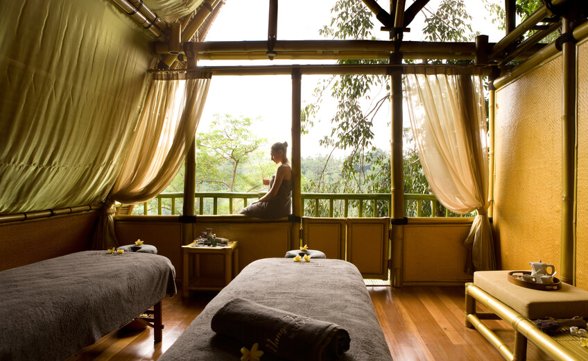 Tree top Massage above The magnificent Ayung River Valley