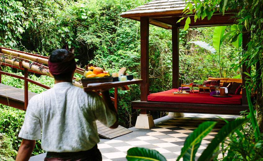 Romantic Picnic In The Jungles Of Bali