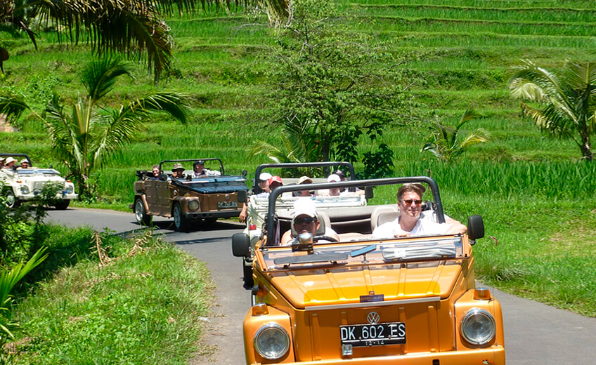 Discovery Tour in a VW Convertible Jeep - West of Bali