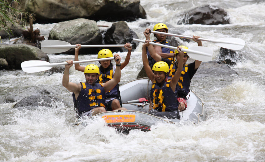 White Water Rafting, Cycling & Elephant Safari