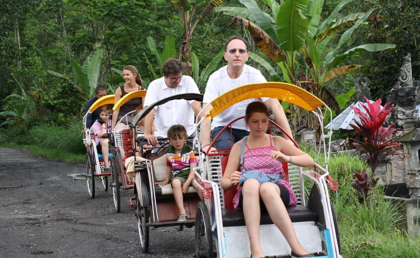 Hike and Tandem Rickshaw Adventure Tour in Tabanan, Bali